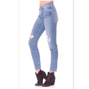 Frame denim la skinny de Jeanne distressed jeans